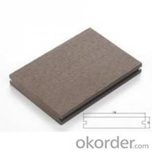 WPC composite deck boards Grooved outdoor WPC wood plastic composite decking
