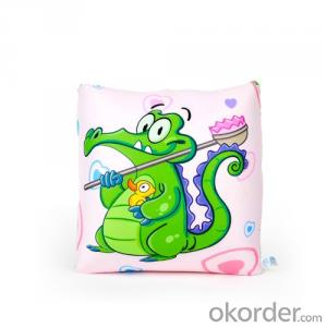 Square  Beads Pillow with Cute Alligator Priting
