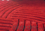 Handmade Carpets of 100% polyester with Soft Long Pile
