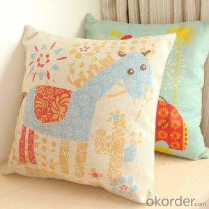 New Style Printing And Handmade Cushion Hot Sale Cotton Linen