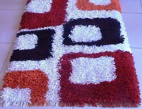 Green Polyester Rug Customized New Modern Design