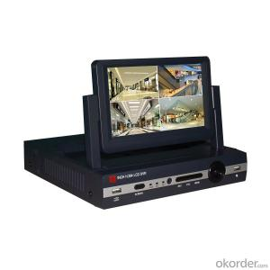 7inch LCD 4ch  H.264 DVR/NVR/HVR/Screen 4 in1 home security system