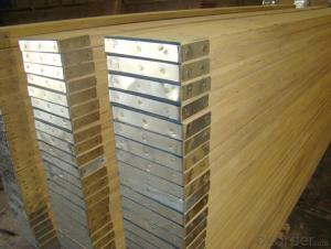 Radiate Pine  LVL Scaffolding Plank with steel cap of both ends for  construction
