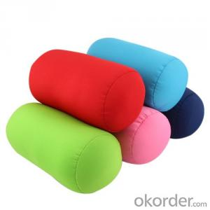 Tube shape beads pillow with Colorful pattern