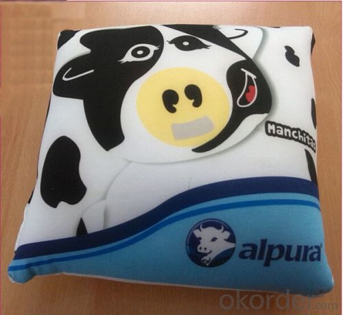 Super Cute Beads Pillow with Cow Printing