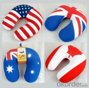 Travel Pillow With  Nation Flag Printing