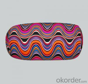 Tube shape beads pillow With Wave Pattern