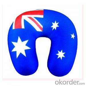 Travel Pillow With Australia National Flag Printing