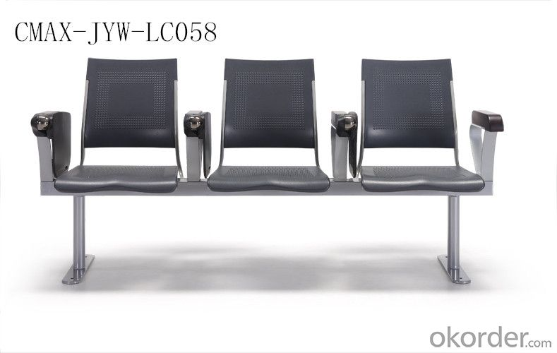 Black Color Public Waiting Chair with nice Price  CMAX-JYW-LC058
