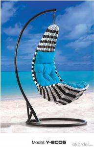 PE Rattan Wicker Garden Hanging Swing Chair, Outdoor Swing Sets For Adults