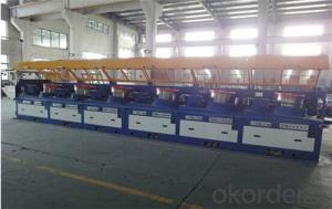 Straight-type steel wire drawing machine