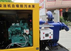Mobile water pump powered by diesel engine ( 15m lift)