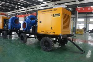 Diesel generator powered trash water pump with trailer