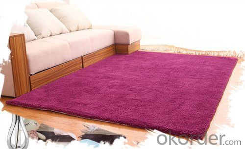 100% Polyester Shaggy Carpet through Hand Make for Home