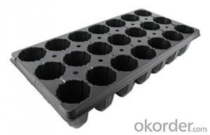 Plastic Seeding Tray,Black Nursery Trays