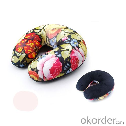 Memory Foam Travel Pillow Filled with polystyrene beads