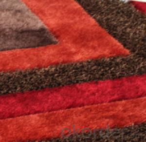 100% Polyester Shaggy Carpets of Hand Woven with Modern Design