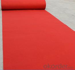 needle punched exhibition carpet noven carpet