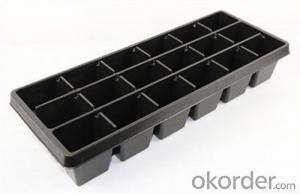 Plastic Seedling Tray Nursery Tray Seed Tray Black Durable Plastic Seed Cell