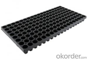 Plastic Seedling Tray Nursery Tray Seed Tray Black Durable Plastic Seed Cell Plug Tray