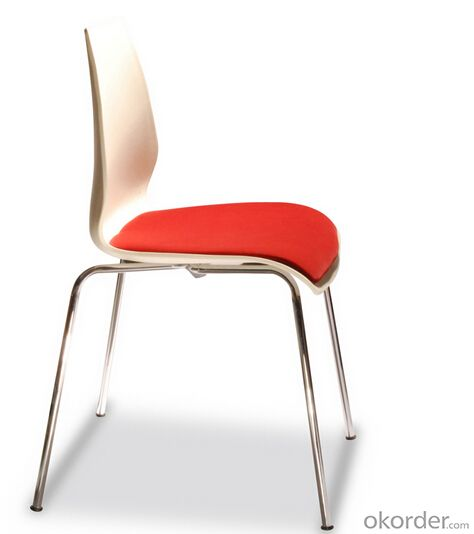 Dining Chairs Plastic Dining Chair with Chromed Leg LASER