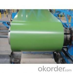 Pre-painted Galvanized/Aluzinc Steel Sheet Coil with Prime Quality , Green Color