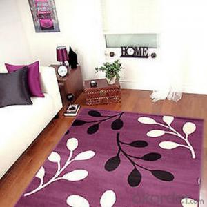 Purple Commercial Carpet Through Hand Make With Modern Design