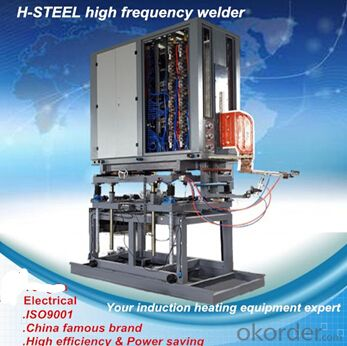 Steel galvanized pipe CNC high frequency heat treatment welding machine