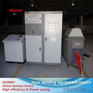 Steel galvanized pipe high frequency heat treatment welding machine