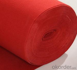 Polyester non Woven felt Carpet Ribbed Exhibition Carpet Price