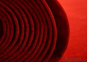 Velour Exhibition carpet with fire proof (anti-fire)