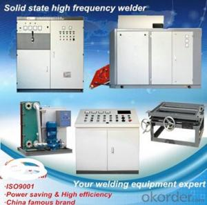 Aluminum spacer induction heating high frequency welding machine