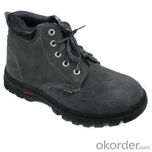 Safety working shoes in UK style fashionable design beige color nubuck leather