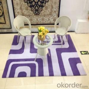 Polyester Carpet Hand Wove with Modern Design from China