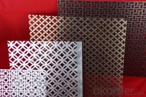 Decorative perforate metal sheet beautiful