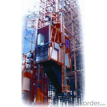 The Multifunctonal Construction Hoist with Hot Galvanzed Cage