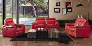 Manual Recliner Sofa, Leather Sofa, American Style