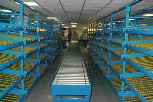 cargo flow type pallet racking systems for warehouse