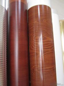 PVC Wood Grain Membrane Film for Decoration
