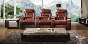 Genuine Leather Recliner Sofa,Manual Recliner