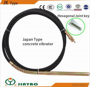 Japanese concrete vibrator 38mm*6m with hexagonal joint key