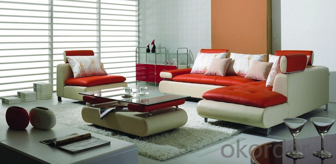 Chaise Leather Sofa, Living Room Leisure Sofa