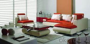Chaise Leather Sofa, Living Room Leisure Sofa