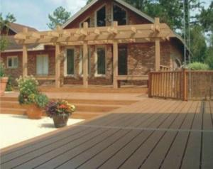 Solid and Grooved Waterproof WPC Deck IN China