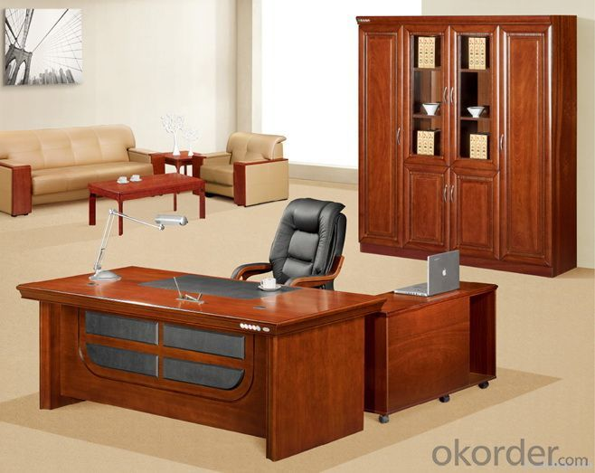 Classic Design Wooden Office Executive Table with Side Cabinet of good quality