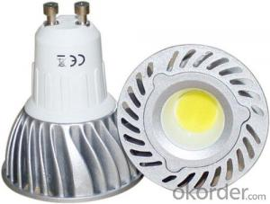 LED  GU10 Spotlight, 4W 220V Dimmable COB LED
