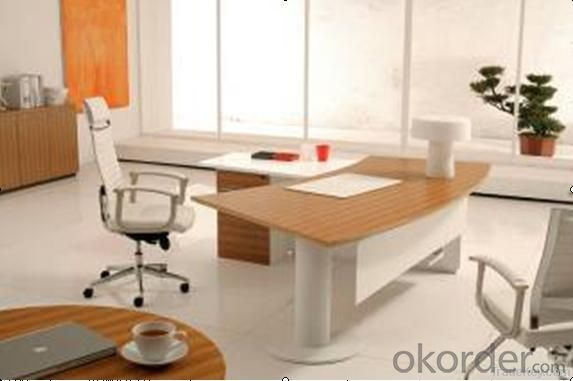 Good quality Classic Design Wooden Office Executive Table with Side Cabinet