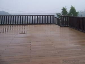 Waterproof WPC Decking Floor with recycled material