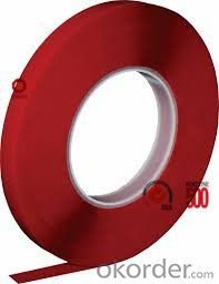 Double Sided Tissue Tape Solvent Based Acrylic Red Color