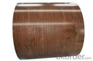 Printed Color Coated Sheet /Rough and Glossy Wood Grain Steel Coils
